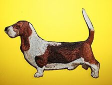 "Basset Hound Dog Embroidered Patch Approx Size 3.5""x5"""