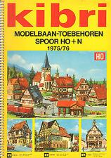 KIBRI CATALOGUS Modelbaan-Toebehoren HO + N  1975/1976