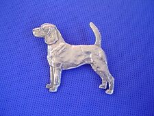 Beagle Standing Pin #53B Pewter Scent Hound dog jewelry by Cindy A. Conter