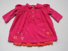 CATIMINI Girls 18 Mo Pink Orange Corduroy Layered Dress Birds Trees Houses 81 cm