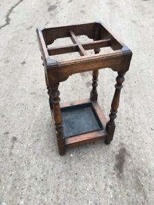 Edwardian Oak Stick stand
