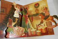 """Christmas Pop Up Card 5 1/2"""" x 8"""", Popshot Moving Design Decorate Tree & Toys"""