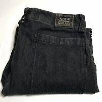 Marithe Francois Girbaud Black Jeans 90s Straps Hip Hop Baggy Size 40 x 36