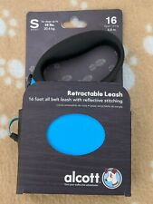 New Alcott 16 Ft. Retractable Leash Blue ~Small~ For dogs up tp 45 lbs.