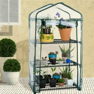2/3/4/5 Tier Small Plastic Greenhouse PVC Gardens Outdoor Grow Plants House New