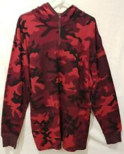 Polo Ralph Lauren 1/4 Zip Thermal Hoodie Red Camo Cotton Shirt W/Pockets Mens Xl