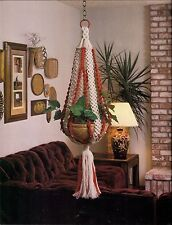 Childrens Plant Hanger Pattern - Craft Book: #905 Macrame for Ages 8 and Up 2