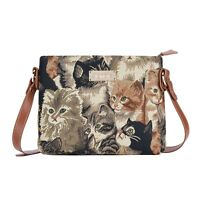 CAT CROSSBODY SHOULDER BAG SMALL WOMEN SIGNARE TAPESTRY CANVAS LADIES WOMAN GIFT