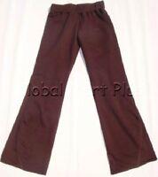 Sweat Pants Elastic Waistband Slight Flare Leg Chocolate Youth Girls Cleo Dot