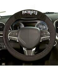 Official NFL Football Patriots Team Logo Black Premium Steering Wheel Cover