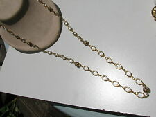 VTG. RAFAELIAN AUSTRIAN CRYSTAL USA OBLONG BEZEL SET STONES RHINESTONE NECKLACE