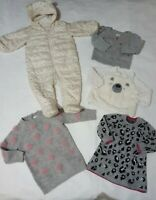 6-9 month girls winter bundle Next Gap snowsuit wool dresses jumper