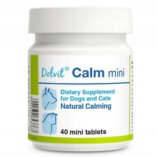 Dolvit Calm 40 mini tabs Natural Calming Supplement for Cats or Small Dog Breeds