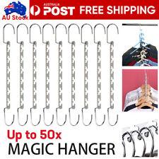 Space Saver Magic Hanger Clothes Coat Pant Metal Hooks Closet Organizer Storage