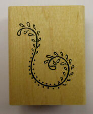 Leafy Swirl Rubber Stamp - DeNami