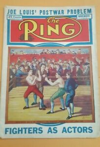 """The Ring Boxing Magazine: Nov. 1943. """"Fighters As Actors."""" Joe Louis."""