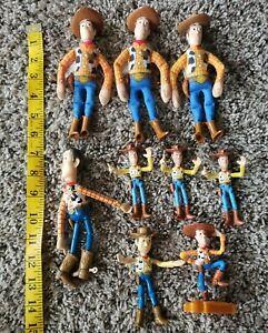Toy Story Woody Doll Disney Pixar Lot of 9 Thinkway BK MCD
