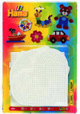 Hama Bead 4 Pegboards Large Square Round Heart Hexagonal