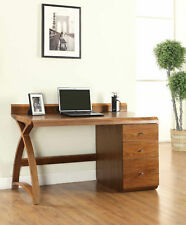Jual Furnishings PC601 Computer Desk & Pedestal Drawer Unit in Real Wood Walnut