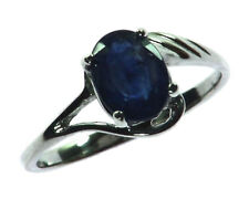 BLUE SAPPHIRE CEYLON IN A STERLING SILVER RING, SIZE (CUSTOMIZABLE)RSS885