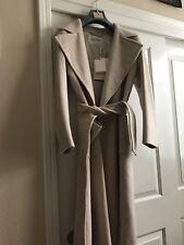 AUTH MAX Mara Beige 100% cashmere Oversize Coat SZ 10