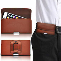 PU Leather Horizontal  Belt Clip Pouch Case For Samsung Galaxy S4 I9505