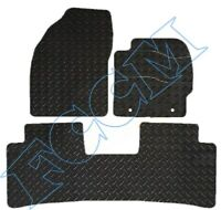 Toyota Prius (3 x Piece TAXI) 2009-2011 RUBBER CAR MATS FULLY TAILORED, 2 CLIPS