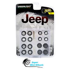 Greenlight 1:64 Auto Body Shop Series 1 - Jeep Wheels & Tires Set