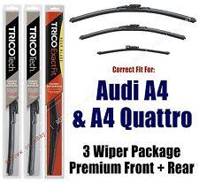 Wiper Blades 3pk Front + Rear fit 2011+ Audi A4 & A4 Quattro - 19240/200/15i