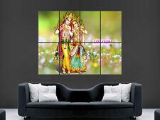 RADHA KRISHNA GOD  RELIGION  WALL POSTER ART PICTURE PRINT LARGE HUGE
