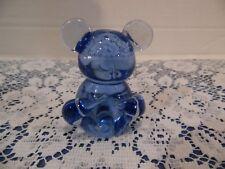 Blue Paperweights Little Bear Figurine Heavy Glass