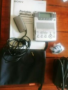 SONY MZ-B100 MINIDISC BUSINESS RECORDER PLAYER DECK CWI ACCESSORIES