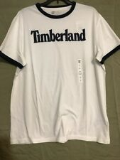Timberland Men's Short Sleeve Linear Logo Shirt Med Tm4
