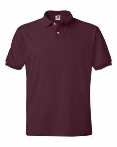 Hanes Ecosmart Jersey Sport Shirt Plain Short Sleeve 5.2 oz 50/50 Polo 054X