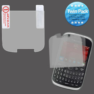 2x LCD Screen Cover Protector Film with Cloth Wipe for RIM BLACKBERRY 9310 Curve
