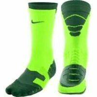 NWT Nike Football Socks Elite Vapor Crew Men XL Green SX4599 Zone Cushioning