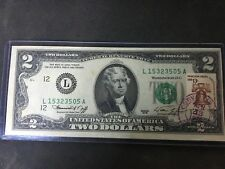 1976 2 dollar bill first day of issue corvalis oregon april 13