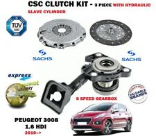 FOR PEUGEOT 3008 1.6 HDI 6 SPEED 2010-> CLUTCH KIT + HYDRAULIC SLAVE CYLINDER