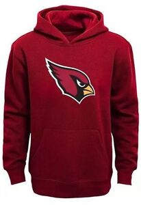 Men's NFL Team Apparel Embroidered Cardinals Hoodie Pocket Small