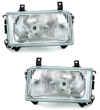 clear finish headlights SET FRONT lights FOR VW T4 BUS TRANSPORTER from 90-03