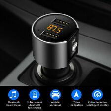 Bluetooth FM Transmitter Adapter Auto Radio KFZ MP3 Player Dual USB Micro SD AUX