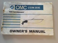 OMC STERN DRIVE 120 HP OWNERS MANUAL) & Service Directory