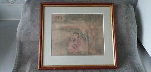 EARLY 20th CENTURY  CHINESE WATERCOLOUR ON SILK (SIGNED)