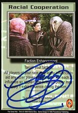 BABYLON 5 CCG Claudia Christian THE GREAT WAR Racial Cooperation AUTOGRAPHED