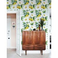 Removable wallpaper Lemon watercolor yellow vibrant self adhesive art