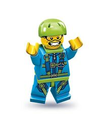 Lego collectible minifig series 10 Extreme Skydiver with a parachute and helmet