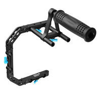 FOTGA DP3000 C-Shape Bracket Cage +Top Handle Grip Support For 15mm Rod Rig DSLR
