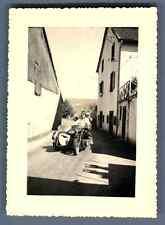 A moto à Velaux Vintage silver print  Tirage argentique  7x10  Circa 1952