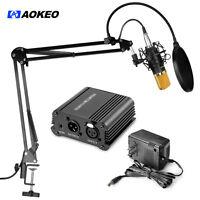 Aokeo-AK-70-Professional-Condenser-Microphone- Suspension-Boom-Scissor &Phantom