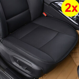 2PCS Universal Full Surround PU Leather Car Front Seat Cushion Breathable Cover
